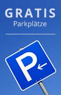 Kostenlose, hoteleigene Parkplätze direkt am Haus